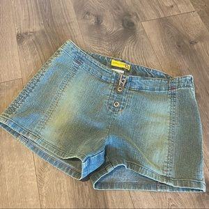 Vintage Gasoline Denim Jean Shorts Size 7